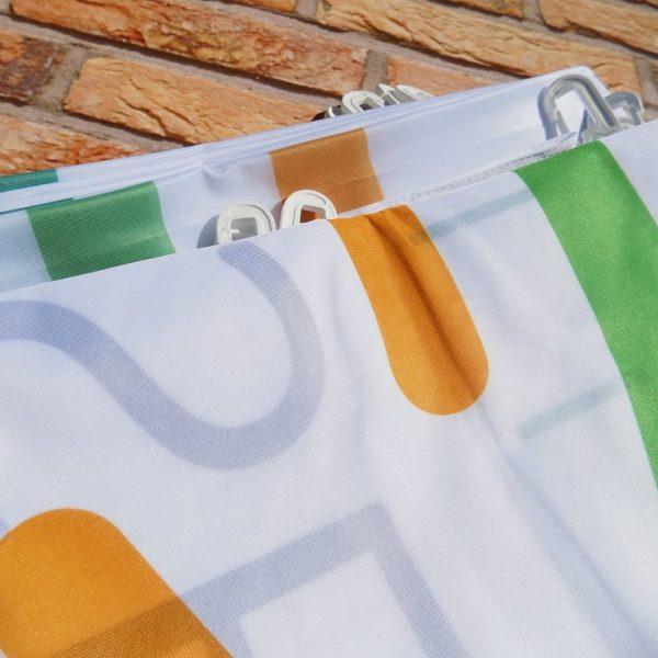 flaga z masztem promocyjna