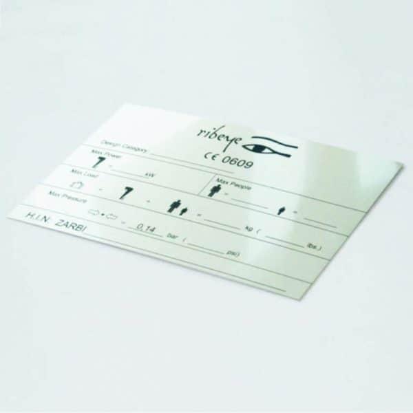aluminium grawerowane/tabliczka