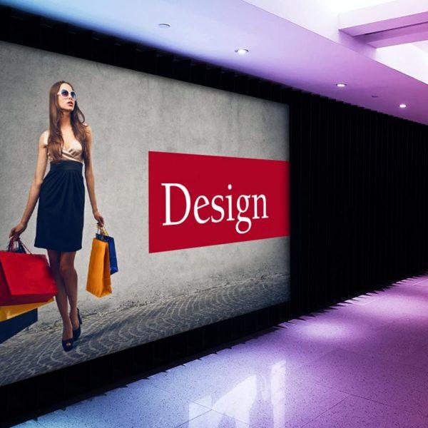 baner backlit z podświetleniem reklama świetlna
