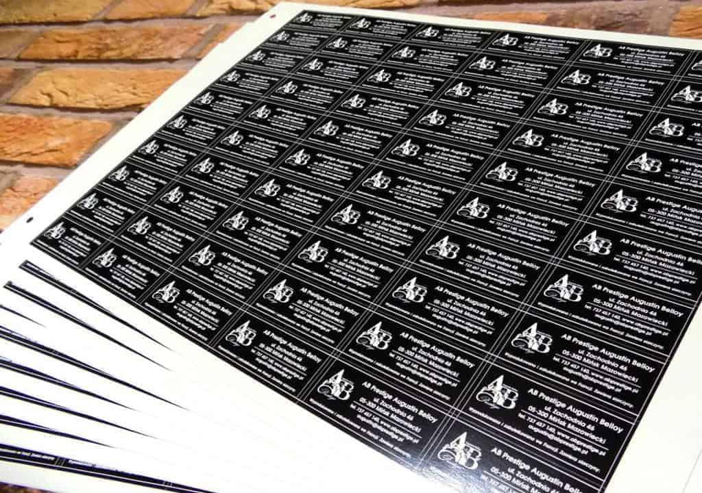 Naklejki samoprzylepne papierowe etykiety z papieru