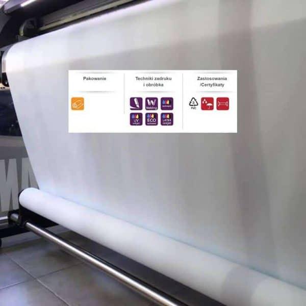 Wzmacniany baner laminowany frontlit do druku