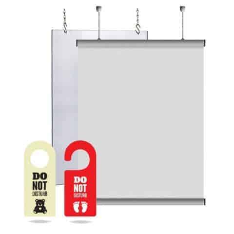 zawieszki wiszące oznakowania tabliczki informacyjne