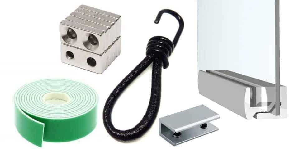 Akcesoria systemów ekspozycyjnych, mocowania, galanteria