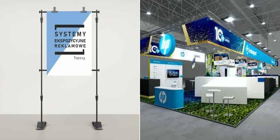 Wystawiennicze i ekspozycyjne systemy prezentacji reklamy