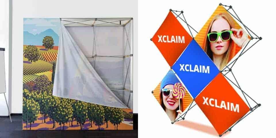Reklamowe systemy ekspozycyjne I wystawiennicze. Ścianki tekstylne, plastikowe, parawany, trybunki itd.