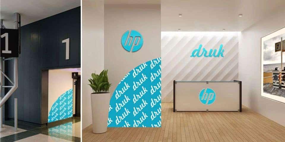 Wewnętrzne nośniki reklamowe. Reklama wewnętrzna, identyfikacja marki, dekoracja.