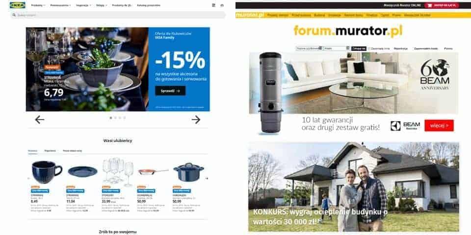 Sklepy internetowe, serwisy www. Tworzenie strony, witryny internetowej.