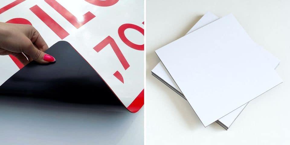 Tabliczki magnetyczne reklama, oznakowanie na magnesie, tymczasowa reklama i oznakowanie.
