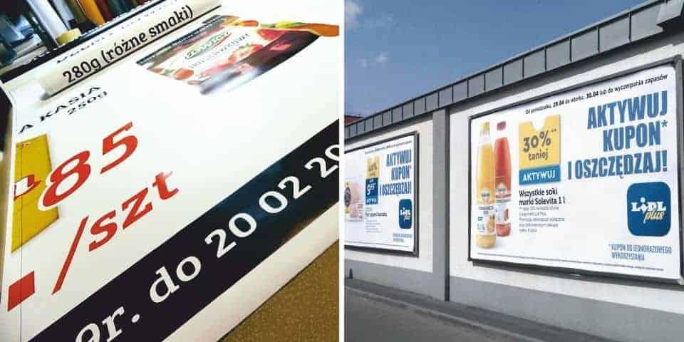 Plakaty na tablice billboardy reklamowe. Druk odporny na wilgoć.