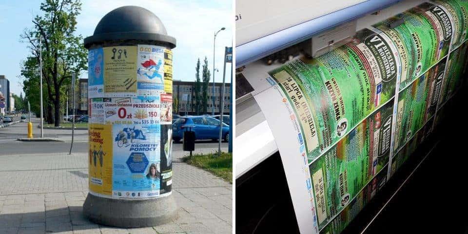 Wodoodporne plakaty papierowe. Odporny na warunki zewnętrzne plakat ogłoszeniowy, reklamowy