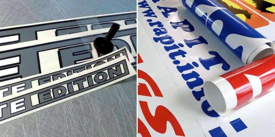 napisy reklamowe litery i napisy cięte z folii