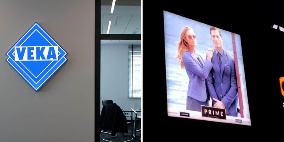 Kasetony reklamowe podświetlane LED reklamy