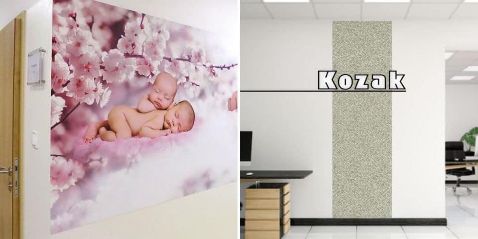 Naklejki na ścianę, folie, papiery, tapety.