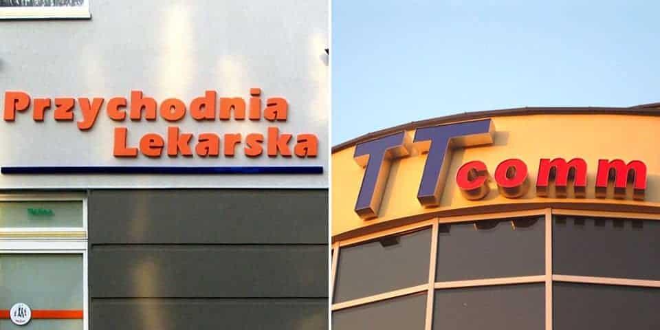 Napisy na budynek – reklama, oznakowanie firmowe budynku.