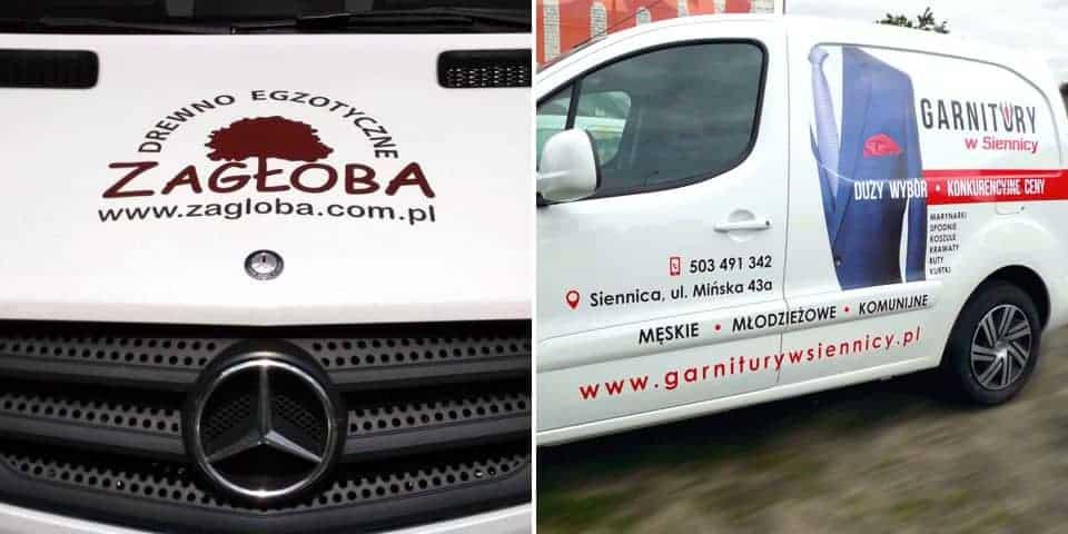 Napisy na samochód – reklama, oznakowanie firmowe samochodu.