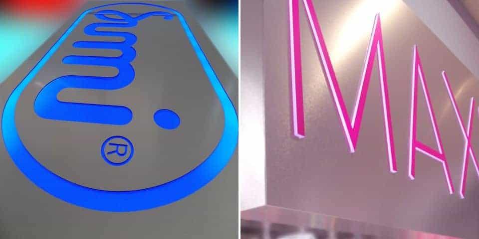 Napisy ze świecącym licem, reklama świetlna LED.