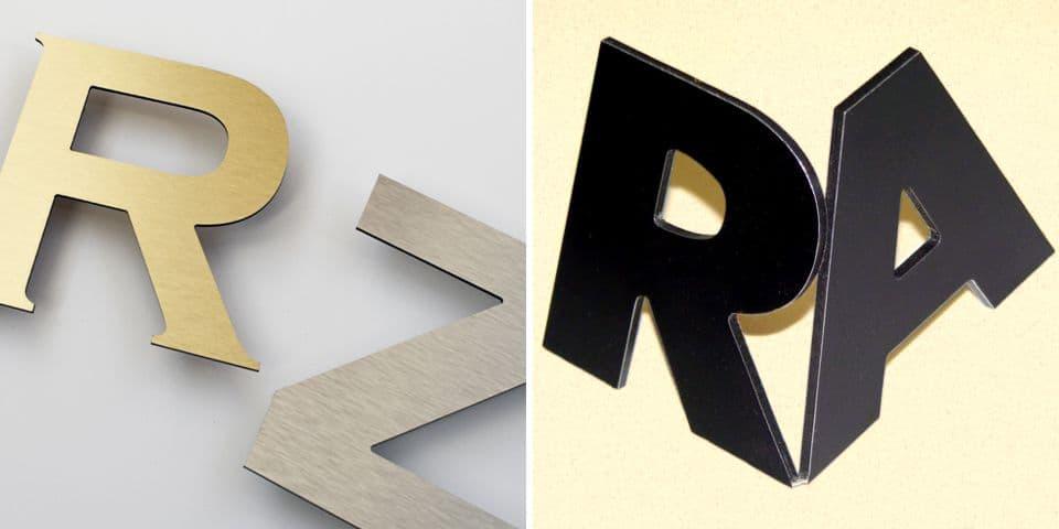 Przestrzenne litery z Dibondu, litery kompozytowe aluminiowe