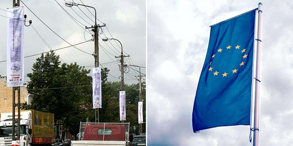 Flagi reklamowe z masztem transparenty
