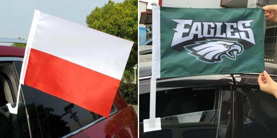 Flagi samochodowe – firmowa reklama na pojazdach.