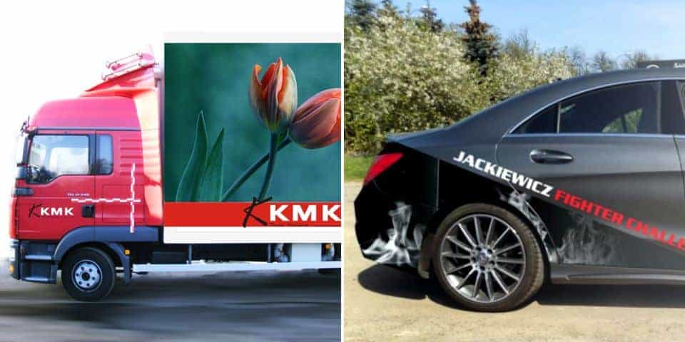 Reklamy z projektem graficznym na samochód