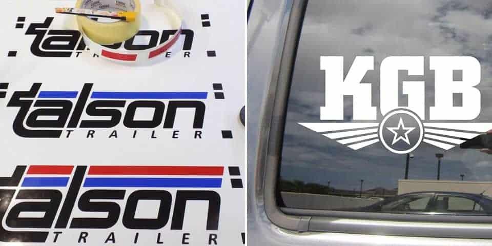 Samoprzylepne litery na samochód szyby samochodowe