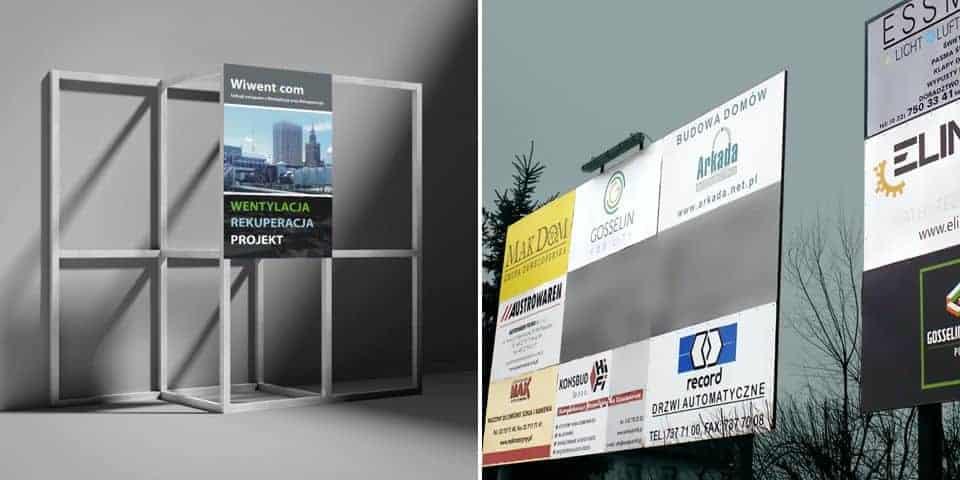 Szyldy tablice modułowe panele reklamowe