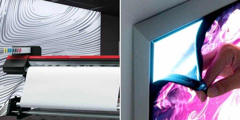 backlit tkaniny do podświetlenia tekstylne backlight